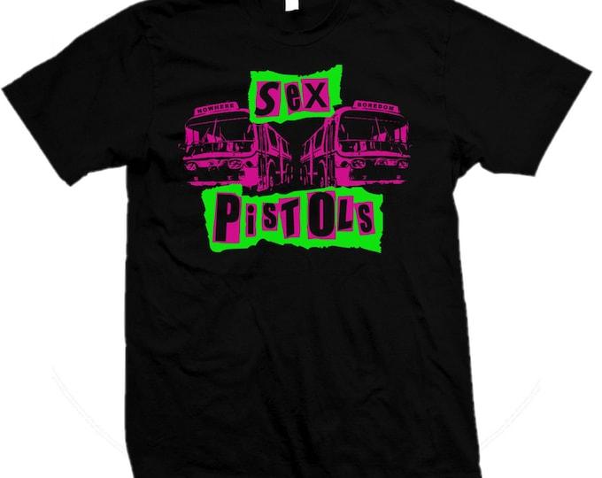 Sex Pistols - Sid Vicious - Johnny Rotten - Pretty Vacant 1977 Punk - Hand screened, Pre-shrunk 100% cotton t-shirt