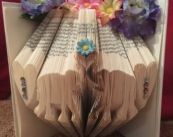 Elephant Folded Book Art