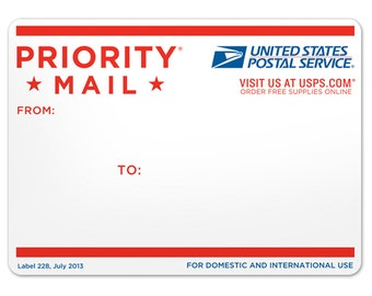 GET IT FAST! Priority Mail Upgrade 2-3 Business days with Tracking