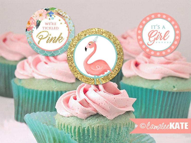 Déco de cupcake flamant rose