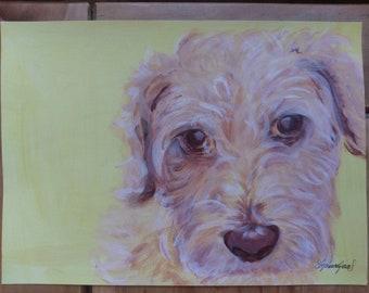 Pet portrait acrylic painting commission