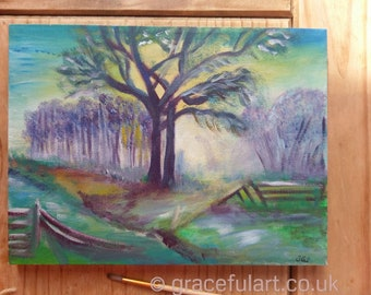Original Acrylic Landscape Painting on Box Canvas - ready to hang