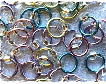 """Ringlets """"Spring Fling"""" stitch markers, ring markers, knitting markers, snag free, dangle free"""