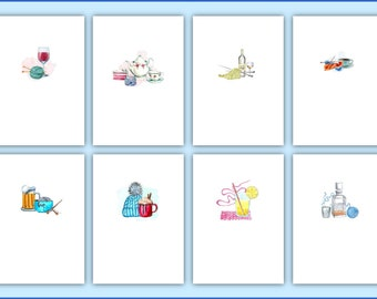 Note Card / Greeting Card / Gift Card / Gift Enclosure / cards for knitters / single card with envelope