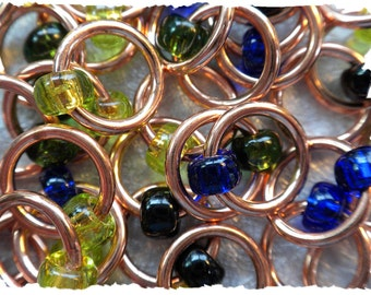 """Ringlets """"Copper"""" stitch markers"""