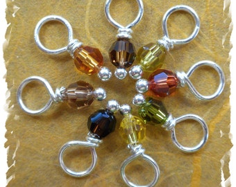 Earthy Drops stitch markers
