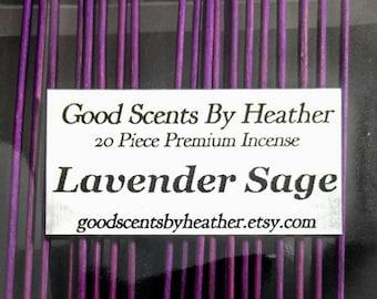 Lavender Sage Incense Sticks -  20 piece