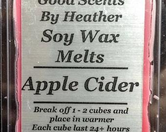 Apple Cider - 3oz Soy Tarts - Wickless Candles - Stocking Stuffer - Teacher Gift - Hostess Gift
