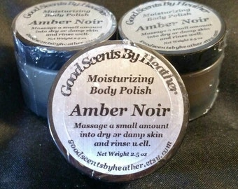 Amber Noir - Moisturizing Body Polish 4.5 oz - Argan Oil