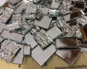 150 MIRROR MIX ODD Size - Stained Glass Mosaic Tile Supply M4