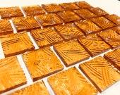 GOLDEN AMBER CELTIC Design Mosaic Glass Tile Supply O6 T18