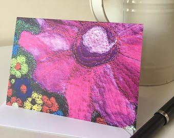 Flower Power Printed Greetings Card