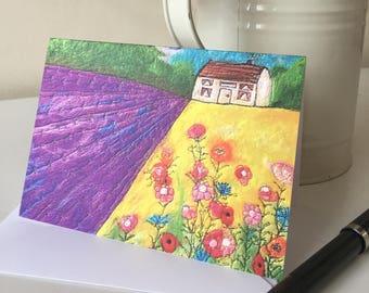 Fields Of Dreams Printed Greetings Card