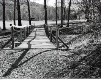 Shadow on a Vermont bridge 8x12 black and white