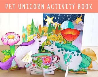 Pet Unicorn Activity Book - Printable - Instant Download