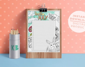 Hello Months - Colouring - Printable Perpetual Calendar - BONUS BOOK INCLUDED