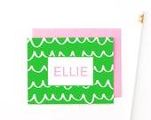 Personalized Stationary Kids Stationery Personalized Stationery Set Custom Note Cards Personalised Girls Stationary Monogrammed Stationery