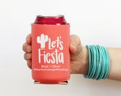 Personalized Wedding Can Cooler Fiesta Party Supplies Cactus Can Hugger Custom Beach Wedding Favors Cinco De Mayo Decorations Beer Hugger