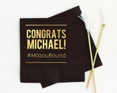 Graduation Napkins Class of 2019 Personalized Napkins Graduation Party Decorations - Cocktail, Luncheon, and Dinner Napkins