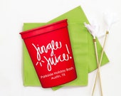 Christmas Party Cups Personalized Holiday Party Favors Jingle Juice Plastic Cups Christmas Decorations
