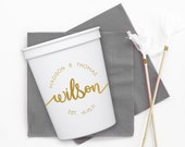 Personalized Wedding Cups, Engagement Party Plastic Cups, Custom Stadium Cups, Reception Cups, Wedding Favors, Bridal Shower Decor