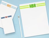 Personalized Monogram Notepads - Custom Note Pad for Boys - Boys Stationary Set - Kids Writing Paper with Envelopes