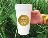 Custom Logo Foam Cups, Personalized Styrofoam Cup, Wedding Favors and Decorations, Party Cups