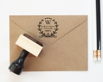 Return Address Stamp Wedding Invitation Stamp Rubber Stamp Etsy
