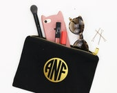 Cosmetic Bag Personalized Monogram Makeup Bag Monogrammed Toiletry Bags Bridesmaid Gifts Bachelorette Party Favors Bridesmaid Make Up Bag