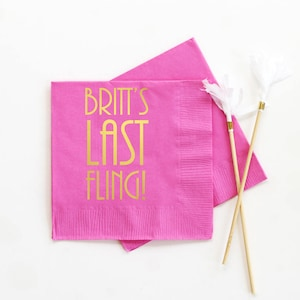 Girl Birthday Pink Party Supplies Paper Napkins Bridal Shower Bachelorette Party Magenta Napkins Fiesta Party Cocktail Napkins