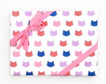 Katze Geschenkpapier lustig Verpackung Papier Mädchen Geburtstag Geschenk wickeln Blatt Katze Geschenkpapier Papier Rollen Geschenke für Cat Lovers Katze Muster nette Verpackung