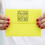 Modern Address Stamp Personalized Rubber Address Stamp Housewarming Gift Custom Return Address Labels Modern Wedding Invitation Stamp