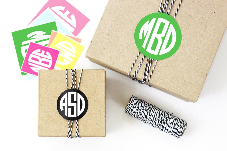 Wedding Favor Labels Personalized Monogram Stickers Custom Etsy