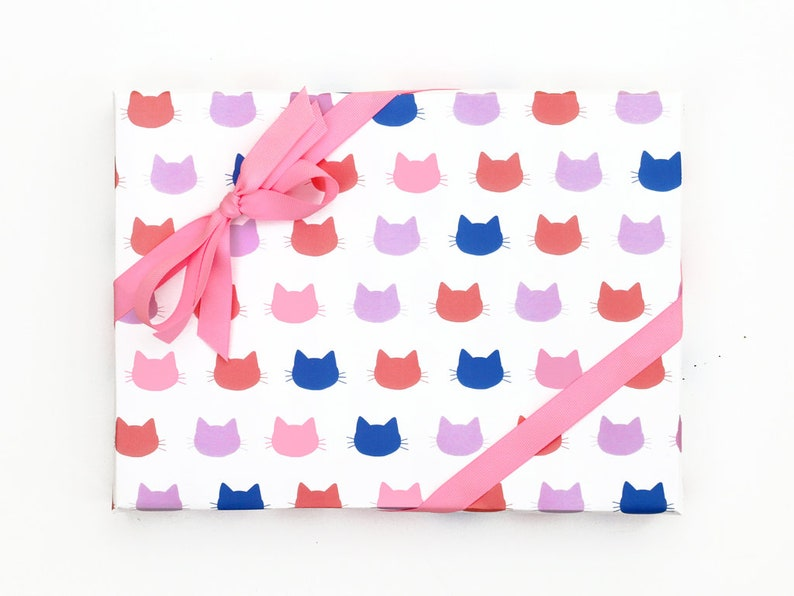 Cat Gift Wrap Funny Wrapping Paper Girls Birthday