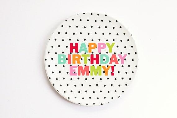 Easter Basket Ideas Personalized Kids Melamine Plate Monogrammed Plates Custom Child/'s Plate Monogram Birthday Plate Polka Dot Plate