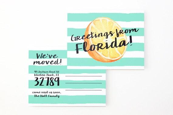 Bewegliche Ankündigung Postkarten Änderung der Adresskarten