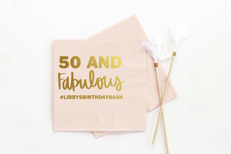 Personalized Birthday Napkins 50th Party Decorations