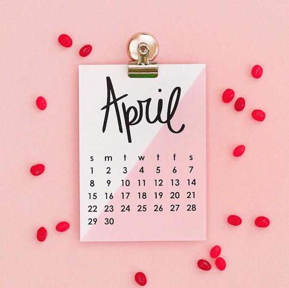 2019 Desk Calendar Monthly Wall Calendar Cute Office Supplies | Etsy