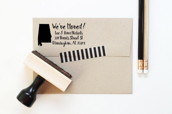 Personalized Return Address Stamp New Home Weve Moved