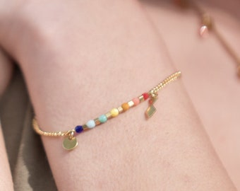 Rainbow bracelet, delicate bracelet, minimal bracelet, pride bracelet , LGBT