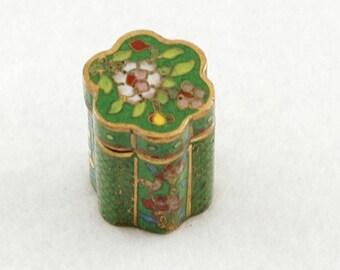 vintage Cloisonne trinket box