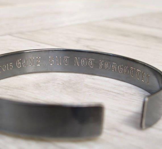 grand choix de 1aaaf 5dda5 Personnalisé Bracelet homme, Bracelet Message caché, manchette sur mesure  pour homme, cadeau pour homme, père, père, mari, manchette personnalisé ...