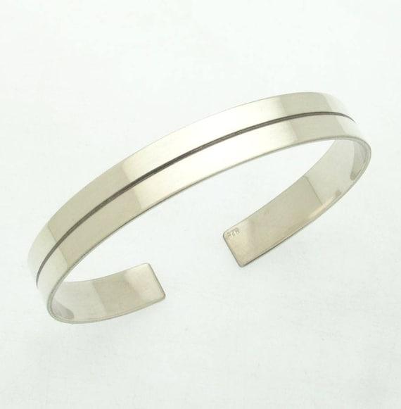 inscription bracelet Silver Mens Cuff Bracelet Personalized Mens Statement Bracelet Inside Engraved Bracelet for Men mens gift bracelet