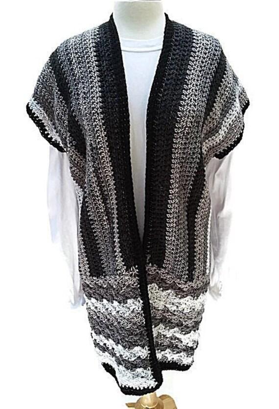 Pepper and Salt Crochet Vest - La Jolie Collection