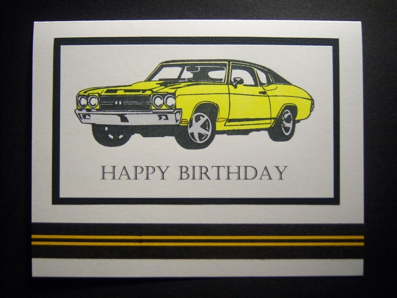 Vintage Muscle Car Birthday Card