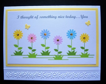 Field of Daisies Thinking of You Card