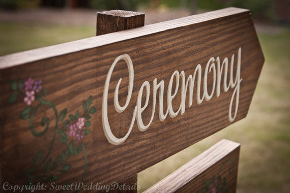 Items Similar To Rustic Wedding Signs, Ceremony Or