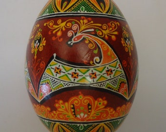 Real Ukrainian Easter Egg. Pysanka by Oleh Kirashchuk. Goose Egg. #2