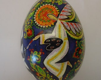 Real Ukrainian Easter Egg. Pysanka by Oleh Kirashchuk. Goose Egg. #5