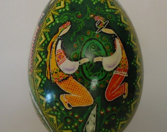 Real Ukrainian Easter Egg. Pysanka by Oleh Kirashchuk. Goose Egg. #4
